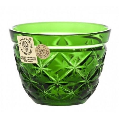 Krištáľový pohárik Charles, farba zelená, objem 65 ml