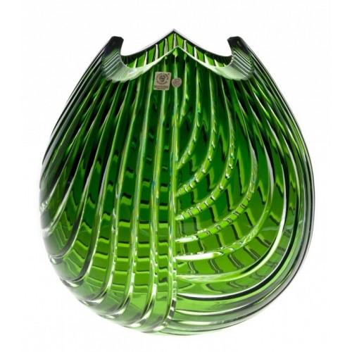Krištáľová váza Linum, farba zelená, výška 280 mm
