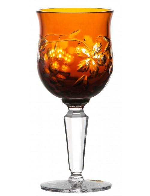 Krištáľový pohár na víno Grapes, farba jantárová, objem 140 ml