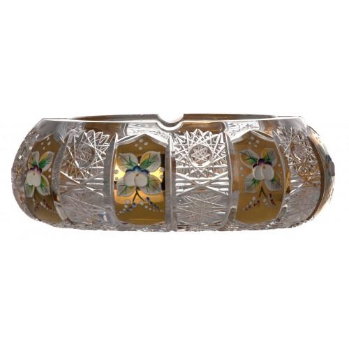 Krištáľový popolník 500PK Zlato, farba číry krištáľ, priemer 180 mm