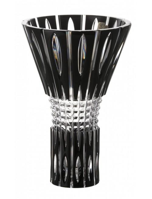 Krištáľová váza Denver, farba čierna, výška 300 mm