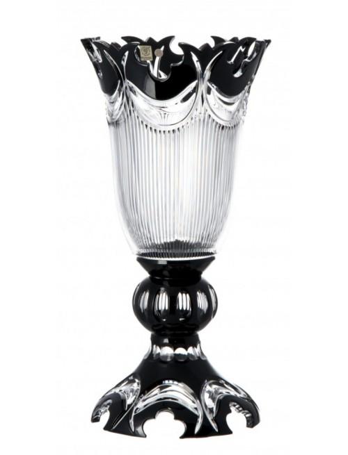 Krištáľová váza Diadem, farba čierna, výška 430 mm