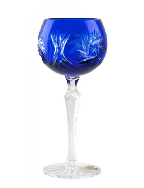 Krištáľový pohár na víno Pinwheel, farba modrá, objem 190 ml