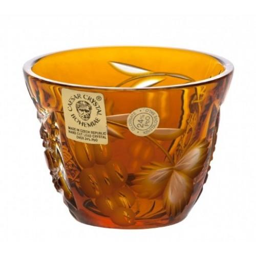 Krištáľový pohárik Nacht vinie, farba amber, objem 65 ml