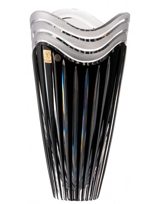 Krištáľová váza Dune, farba čierna, výška 270 mm