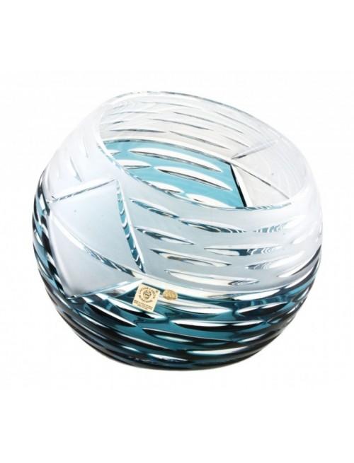 Krištáľová váza Mirage, farba azúrová, výška 200 mm