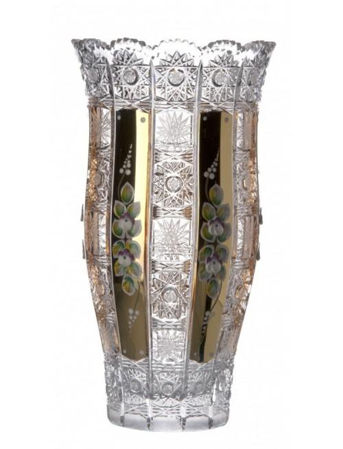 Krištáľová váza 500K Zlato III, farba číry krištáľ, výška 305 mm