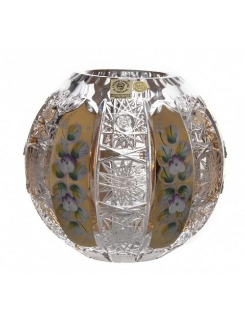 Krištáľová váza 500K Zlato, farba číry krištáľ, výška 150 mm