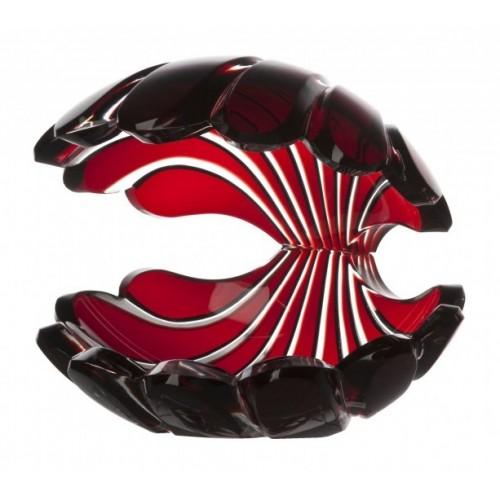 Krištáľová lastúra, farba rubín, výška 140 mm