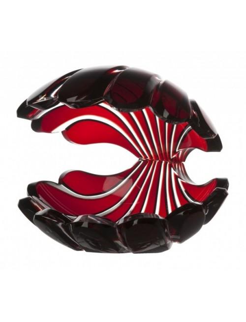 Krištáľová lastúra, farba rubínová, výška 140 mm
