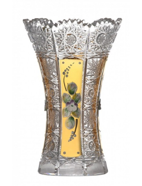 Krištáľová váza 500K Zlato I, farba číry krištáľ, výška 180 mm