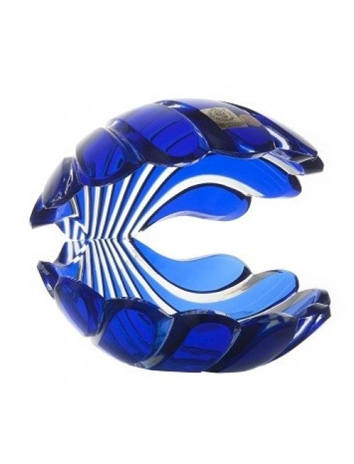 Krištáľová lastúra, farba modrá, výška 140 mm