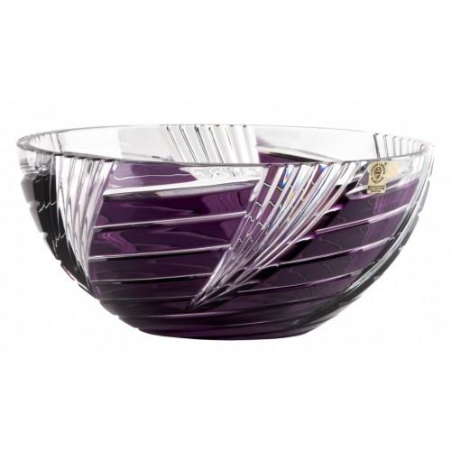 Krištáľová misa Whirl, farba fialová, priemer 250 mm