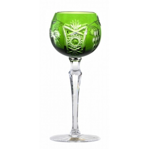Krištáľový pohár na víno Nacht vinie, farba zelená, objem 170 ml