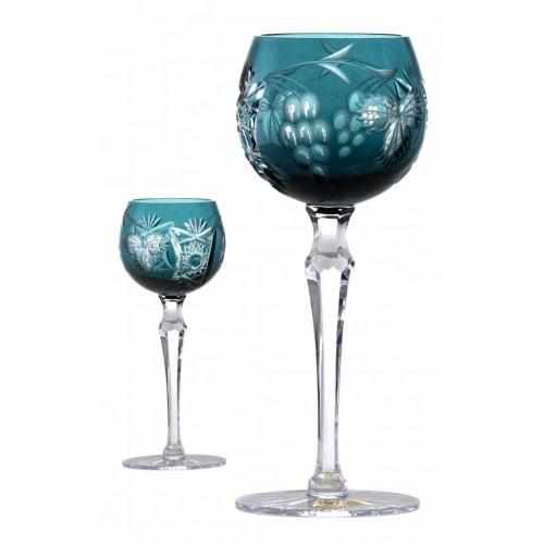 Krištáľový pohár na víno Nacht vinie, farba azúrová, objem 170 ml