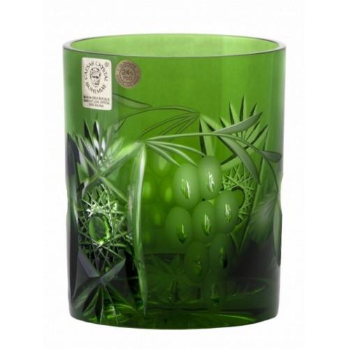 Krištáľový pohár Nacht vinie, farba zelená, objem 320 ml
