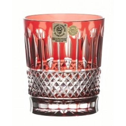 Krištáľový pohár Tomy, farba rubín, objem 290 ml