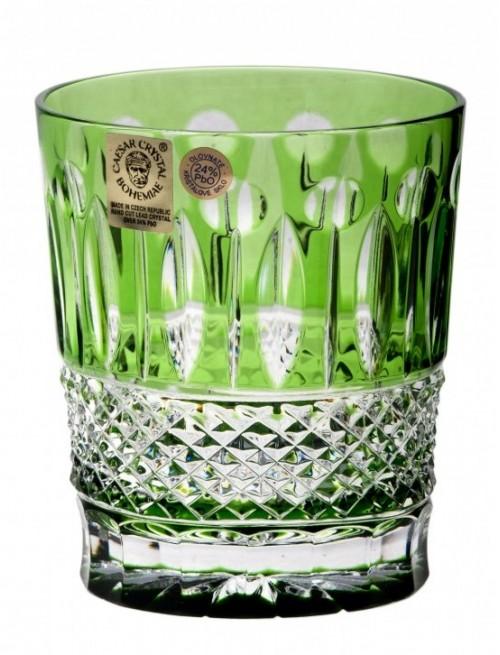 Krištáľový pohár Tomy, farba zelená, objem 290 ml