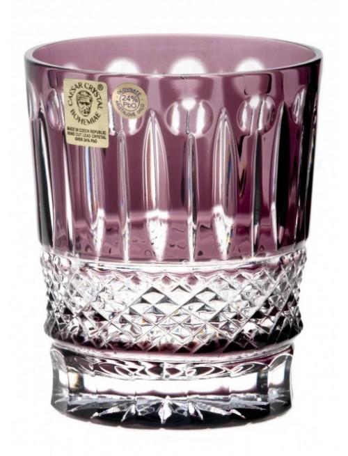 Krištáľový pohár Tomy, farba fialová, objem 290 ml