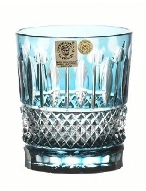 Krištáľový pohár Tomy, farba azúrová, objem 290 ml