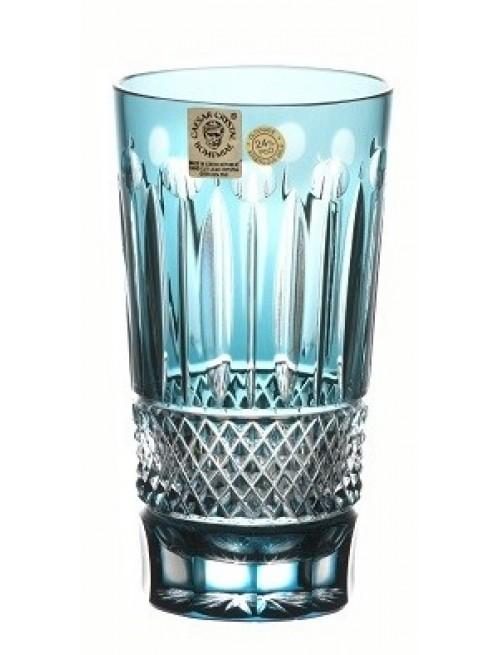 Krištáľový pohár Tomy, farba azúrová, objem 320 ml