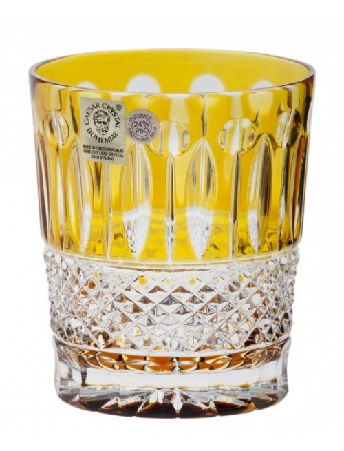 Krištáľový pohár Tomy, farba amber, objem 290 ml