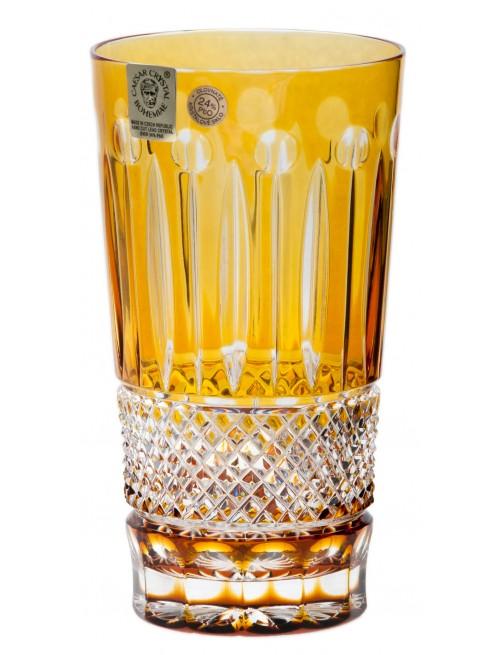Krištáľový pohár Tomy, farba jantárová, objem 320 ml