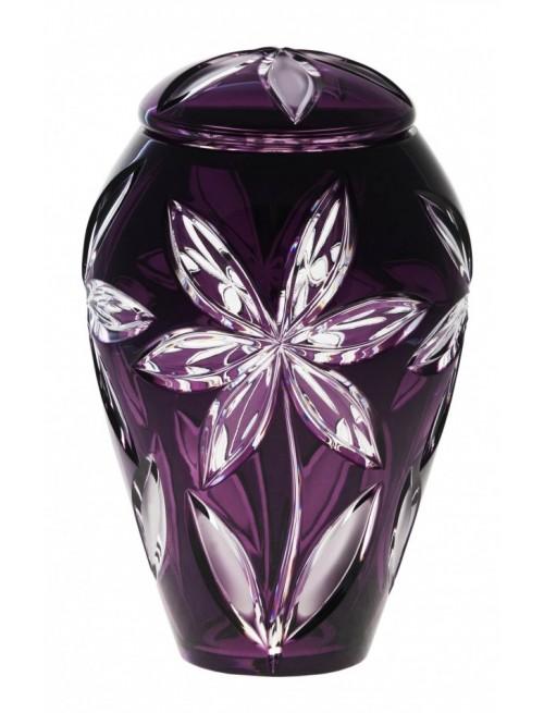 Krištáľová urna Linda, farba fialová, výška 290 mm