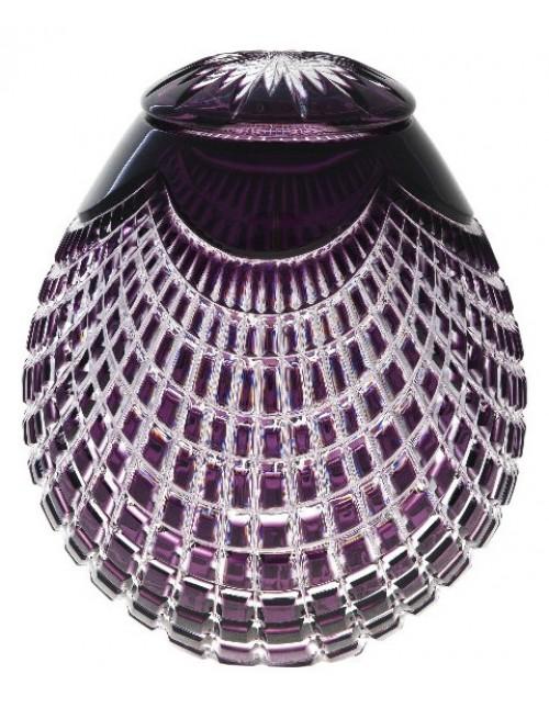 Krištáľová urna Quadrus, farba fialová, výška 290 mm