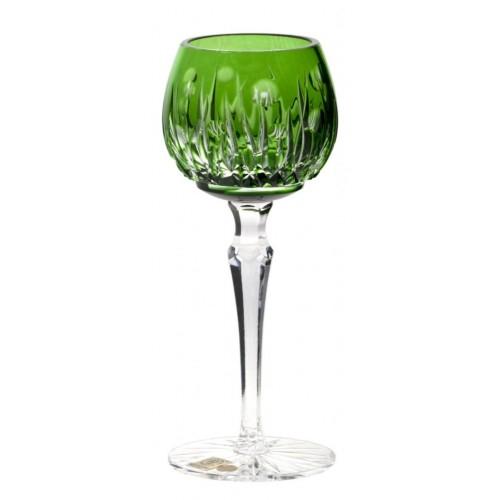 Krištáľový pohár na víno Heyday, farba zelená, objem 170 ml