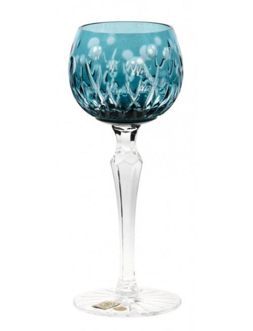 Krištáľový pohár na víno Heyday, farba azúrová, objem 170 ml