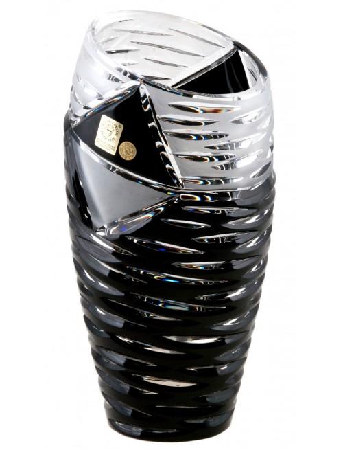 Krištáľová váza Mirage, farba čierna, výška 180 mm