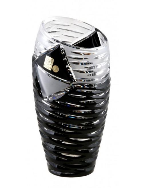 Krištáľová váza Mirage, farba čierna, výška 230 mm
