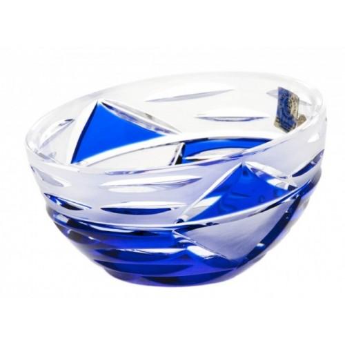 Krištáľová misa Mirage, farba modrá, priemer 230 mm