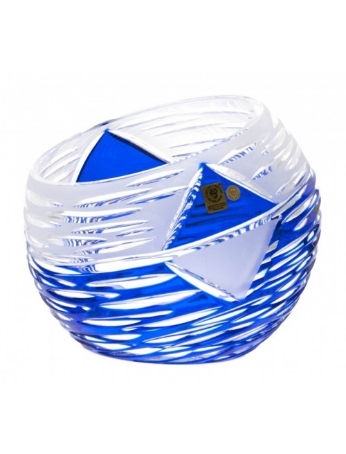 Krištáľová váza Mirage, farba modrá, výška 200 mm