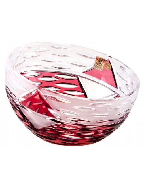 Krištáľová miska Mirage, farba rubínová, priemer 130 mm