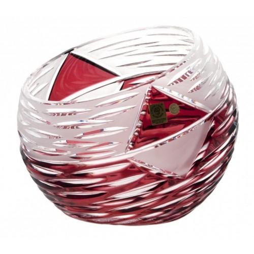 Krištáľová váza Mirage, farba rubínová, výška 200 mm