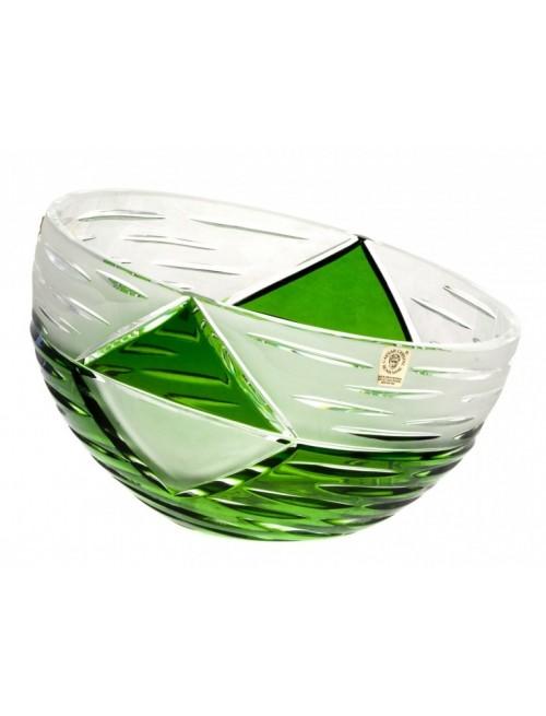 Krištáľová misa Mirage, farba zelená, priemer 180 mm
