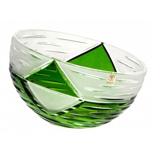 Krištáľová misa Mirage, farba zelená, priemer 230 mm