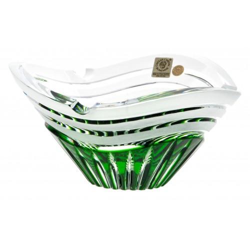 Krištáľový popolník Dune, farba zelená, priemer 180 mm