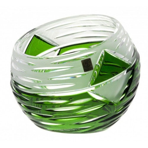 Krištáľová váza Mirage, farba zelená, výška 200 mm