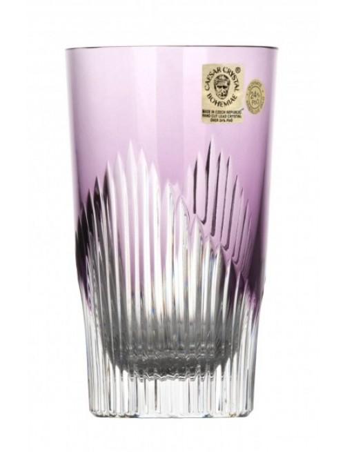 Krištáľový pohár Mikádo, farba fialová, objem 240 ml