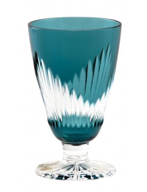 Krištáľový pohár na víno Mikádo, farba azúrová, objem 200 ml