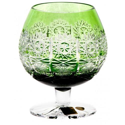 Krištáľový pohár Brandy Paula, farba zelená, objem 300 ml