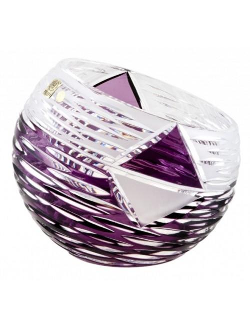 Krištáľová váza Mirage, farba fialová, výška 200 mm