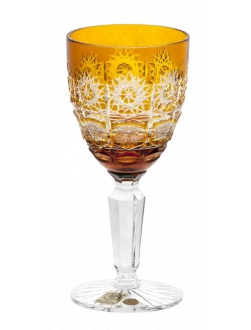 Krištáľový pohár na víno Paula, farba amber, objem 150 ml