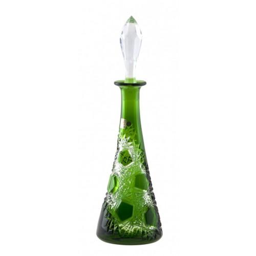 Krištáľová fľaša Frost, farba zelená, objem 750 ml