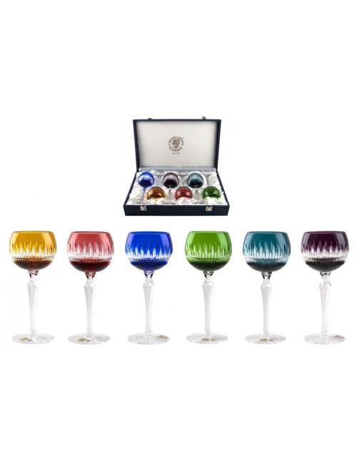 Krištáľový set pohár na víno Thorn 190, farba mix farieb, objem 190ml