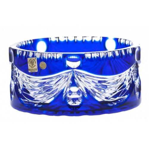Krištáľová misa Empire, farba modrá, priemer 175 mm