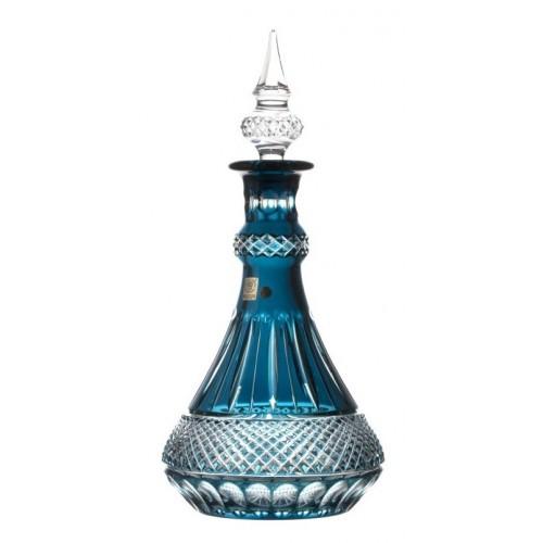 Krištáľová fľaša Tomy, farba azúrová, výška 1300 mm